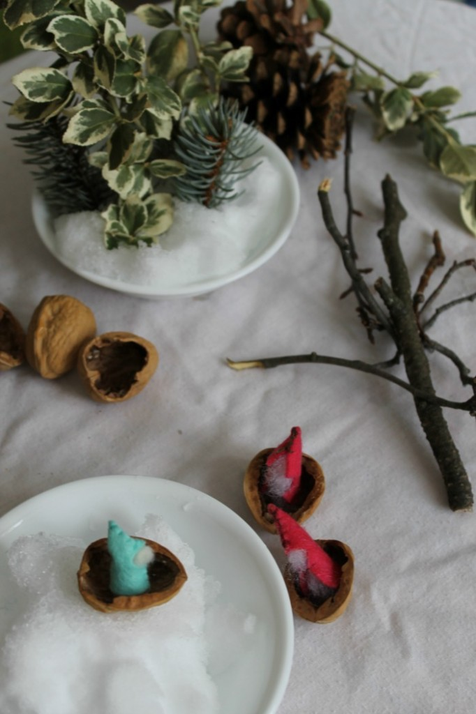 a winter waldorf inspired nature table