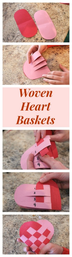 How to make Waldorf woven heart baskets out of paper! This is such a great paper craft for Valentine's Day