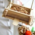 popsicle stick homemade bird feeders
