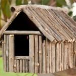DIY bird feeder for kids made of sticks