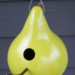 homemade bird feeder using gourds