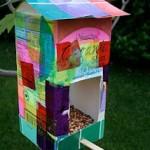 homemade bird feeders by kids
