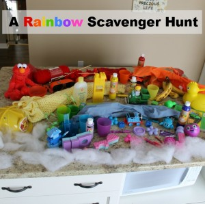 going on a scavenger hunt for a rainbow
