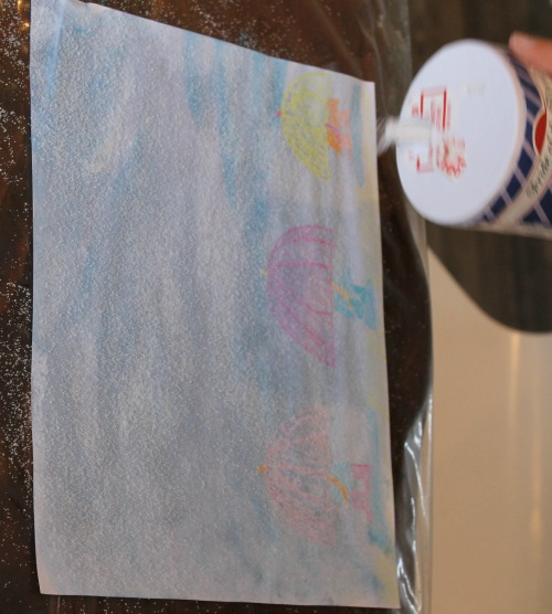 how we learn - pouring salt onto watercolor paintings