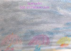 Salt and Watercolor Spring Art