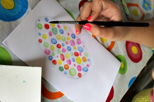 painting a spring art project for kids