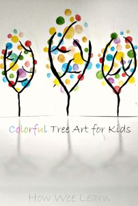 Beautiful spring art for kids! This is such a fun and pretty art project