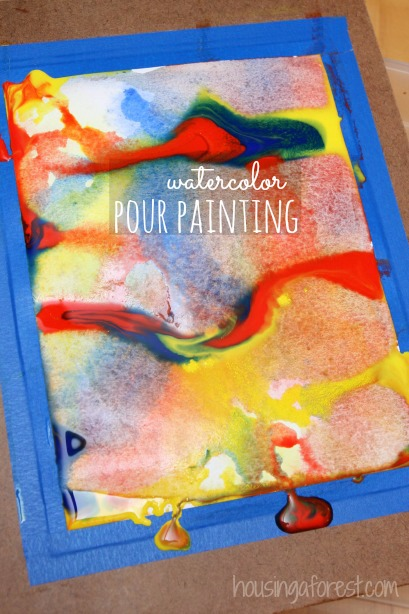 watercolor painting ideas - gorgeous techniques for kids