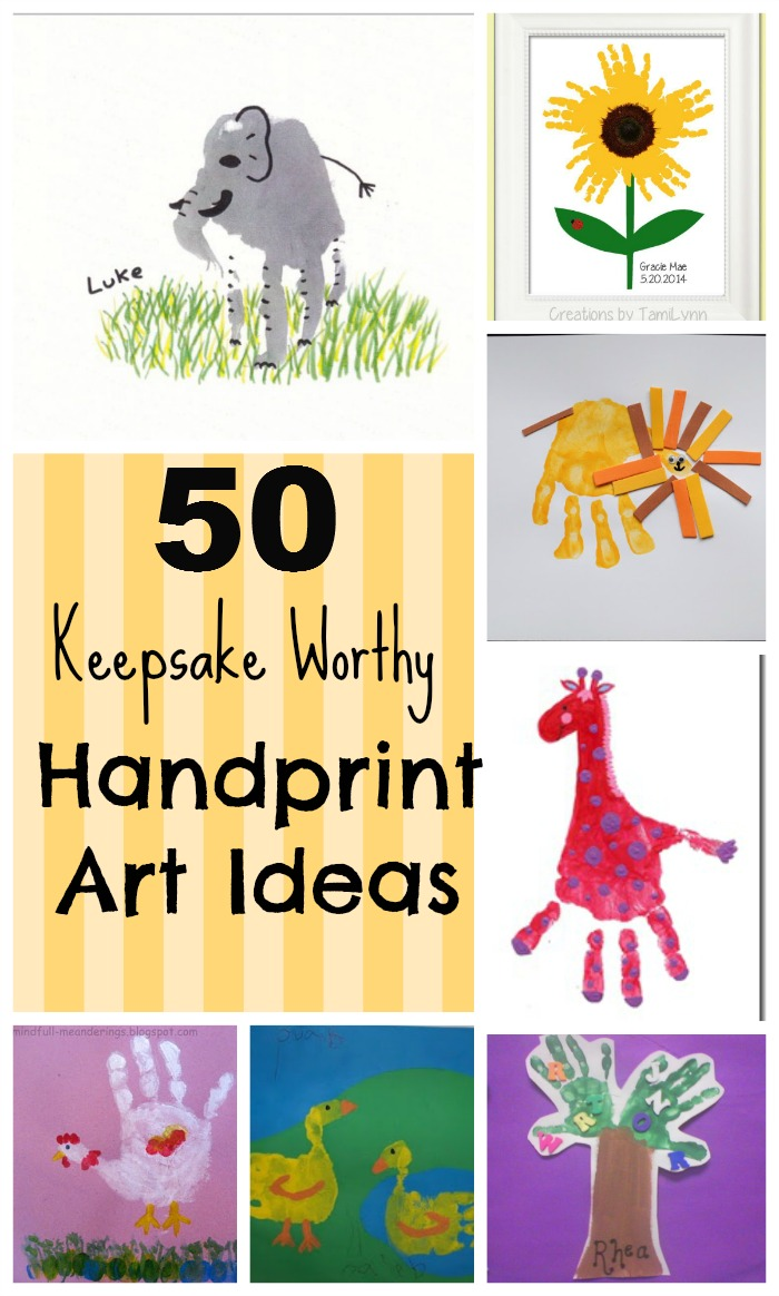 Creative and unique handprint crafts and art for toddlers and preschoolers! Great homemade gifts! #preschool #toddler #crafts #art #mothersday #homemadegifts