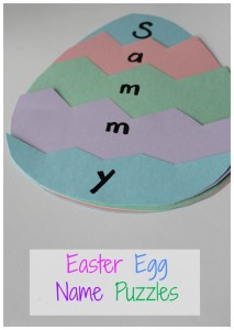 Easter Egg Name Puzzles