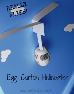 FLYING Egg Carton Helicopter!