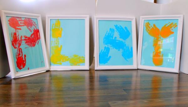 how we learn to make handprint art