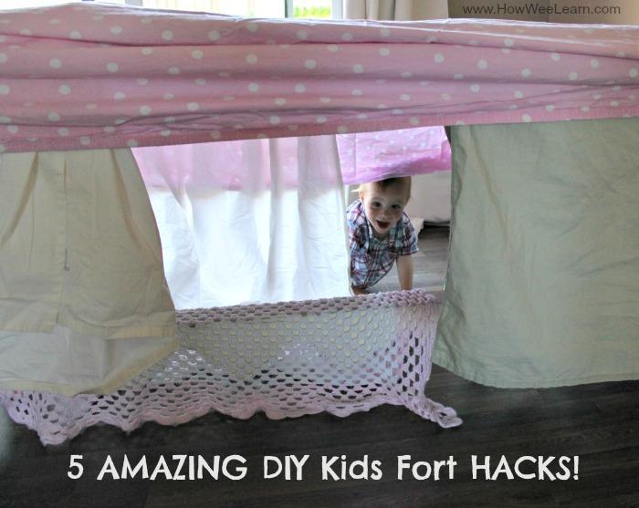 DIY Kids fort title