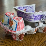 egg carton dump truck craft