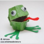 egg carton frog craft idea