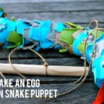egg carton craft snake