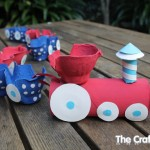 how to make an egg carton train