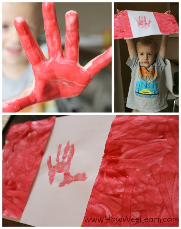handprint Canada Flag
