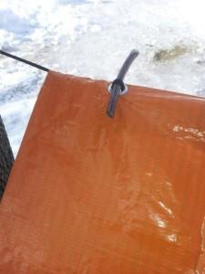 tarp with stick