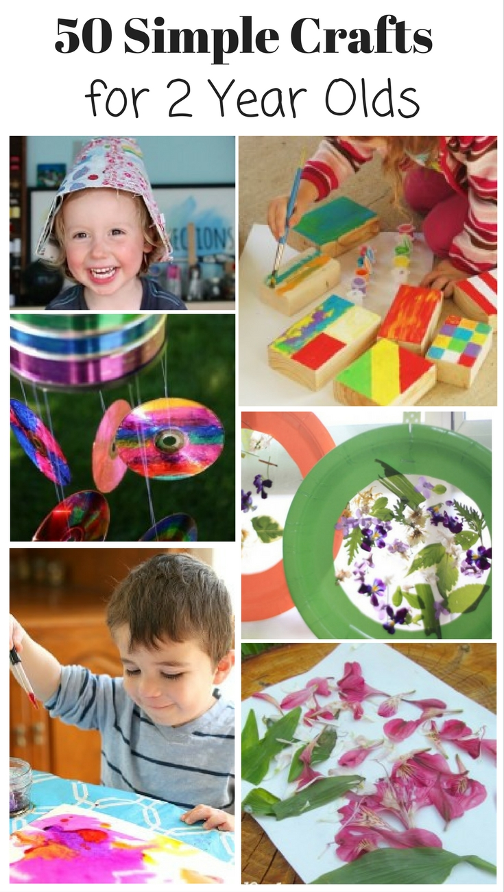 50 Simple Crafts for 2 year Olds. These are all so fun & simple!