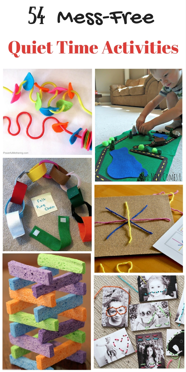 There are so many great quiet-time activities here. My preschooler loves them all.
