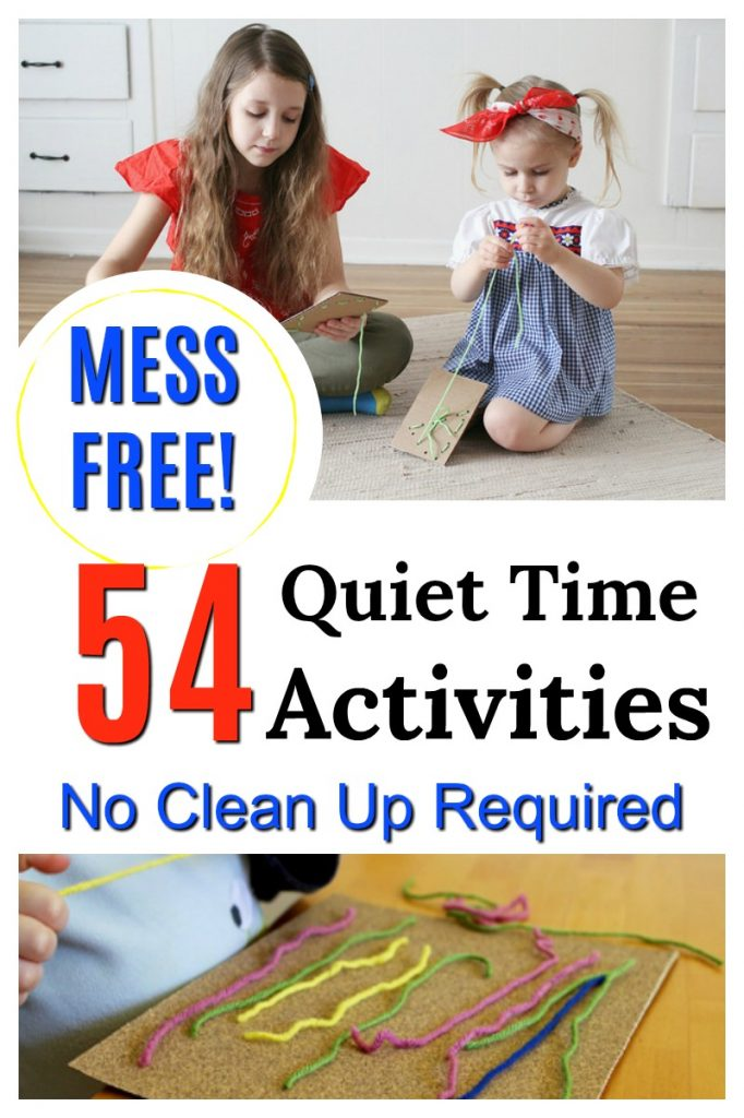 These quiet time activities for preschoolers are great! No clean up required - MESS FREE! Perfect for rest time and non-nappers. #HowWeeLearndotcom #quiettime #messfree #preschoolactivities #quietgames #finemotor #screenfree #childhoodunplugged #busybags