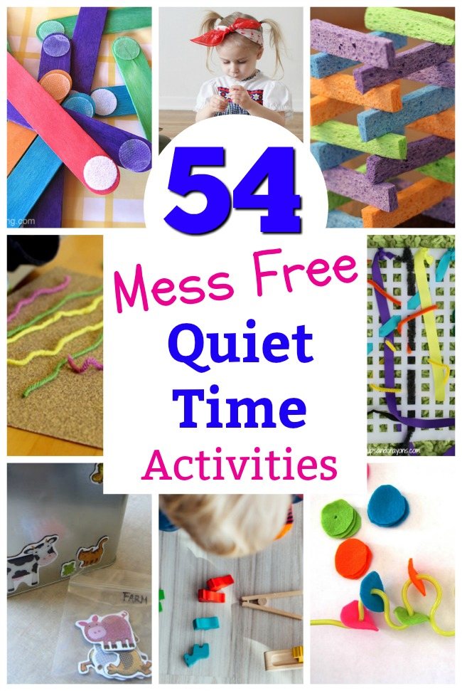 Mess free quiet time activities for preschoolers! Awesome busy boxes for 3 year olds. #howweelearn #independentplay #preschoolactivities #preschoollearning #quiettime #play #preschooler #preschool #parenting