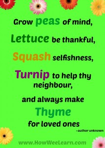 grow peas of mind