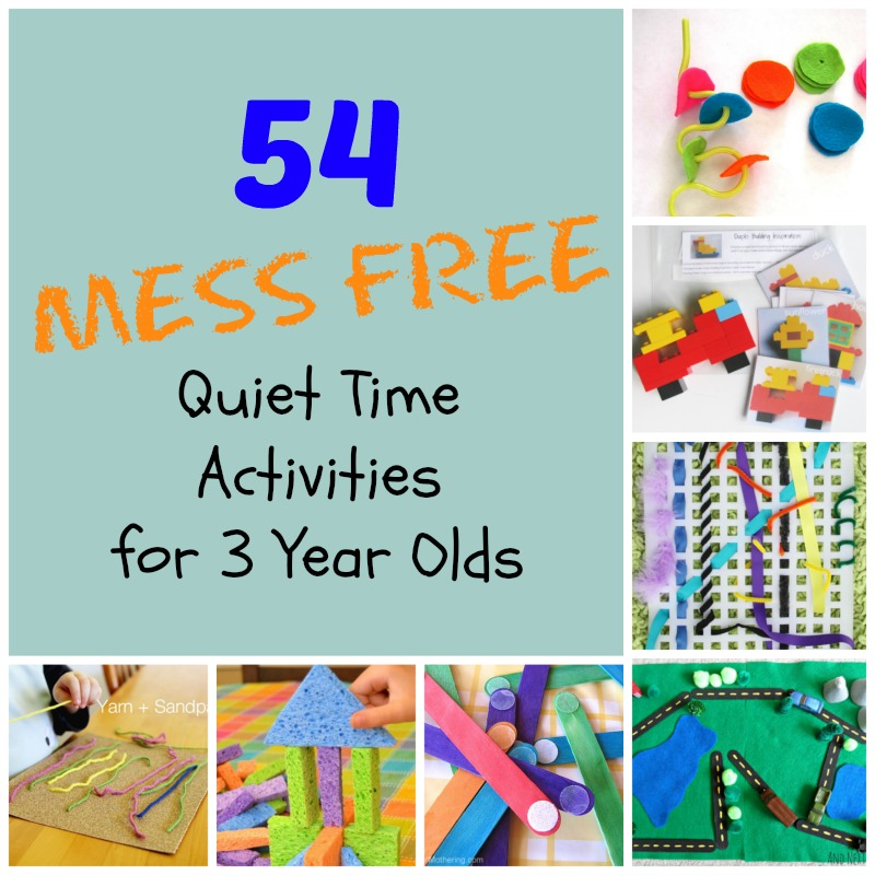 54 mess free quiet time activities for 3 year olds how for Painting ideas for 4 year olds