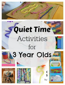 Simple quiet time activities for 3 year olds