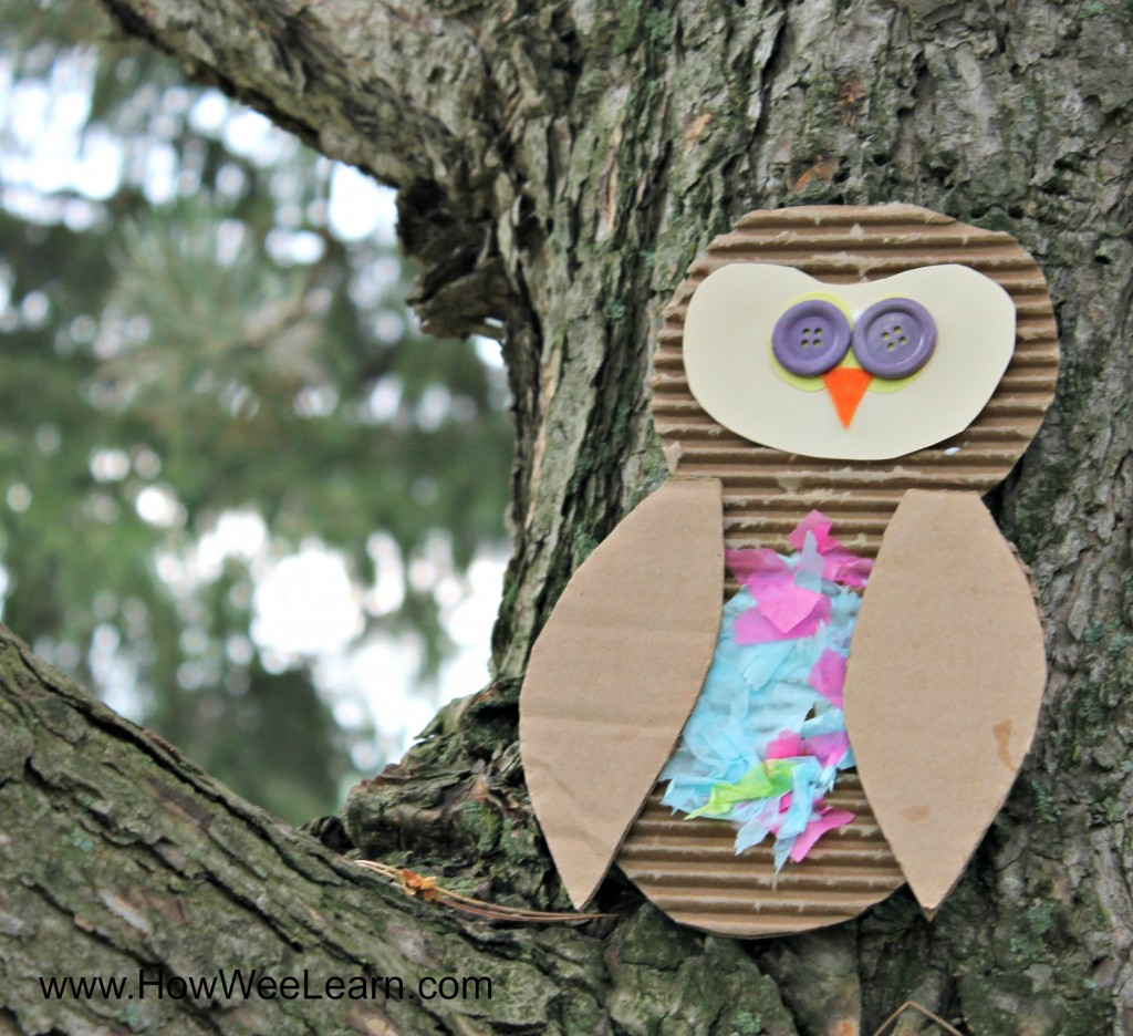 Learn about textures with this sensory rich owl craft for kids!