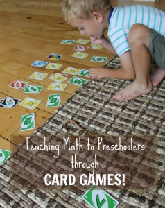 Teaching Math to Preschoolers with Playing Cards