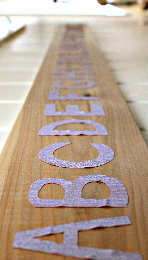 sandpaper letters focused