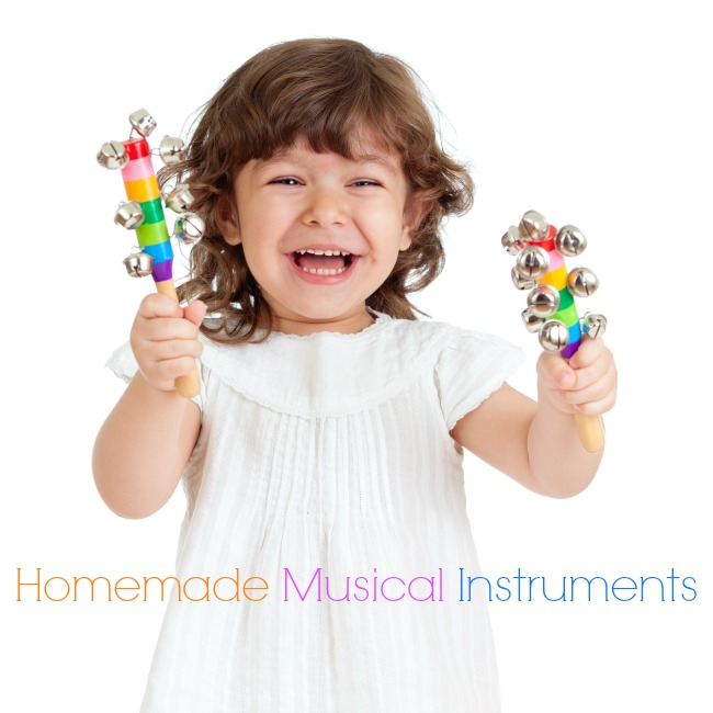 42 Spledidily creative homemade musical instruments for kids! #homemade #DIY #music #musicalinstruments #preschoolactivities