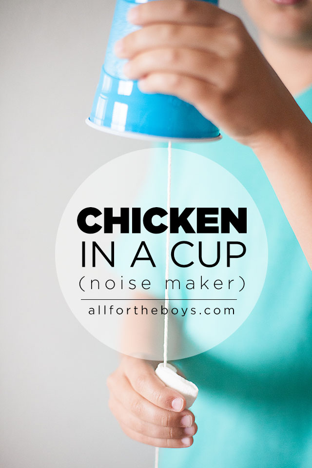 homemade musical instruments chicken in a cup
