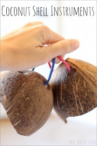 homemade musical instruments coconut shells