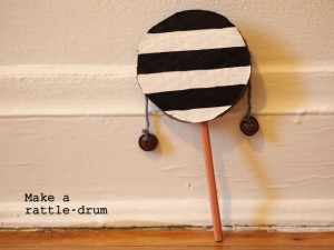 homemade musical instruments rattle drum