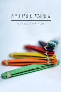 homemade musical instrumetns popsicle stick harmonica