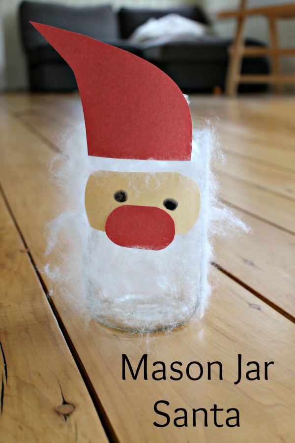 Fuzzy Santa Christmas Mason Jar Crafts How Wee Learn