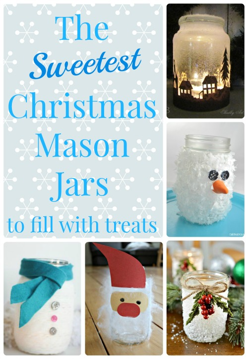 Christmas mason jar crafts to fill with holiday baking