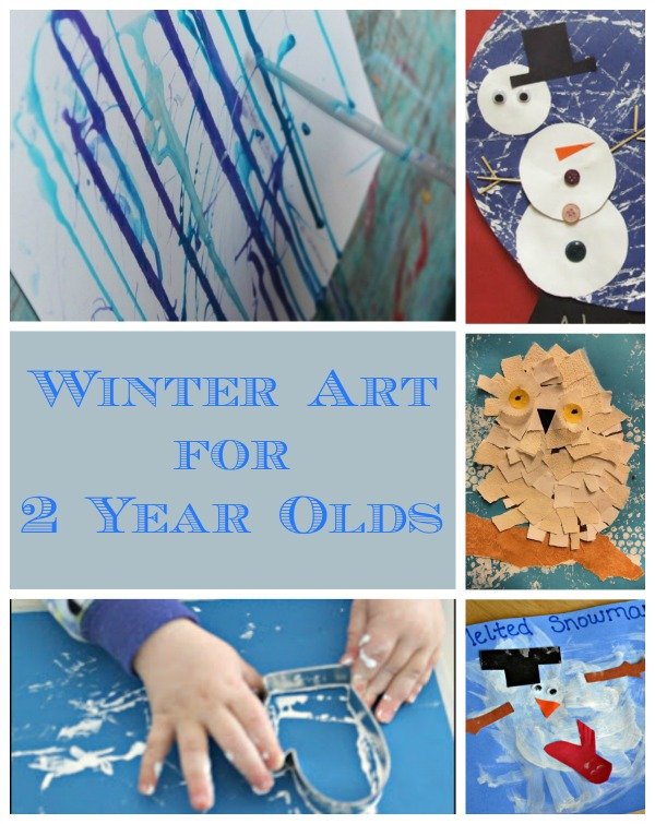 witner art for toddlers