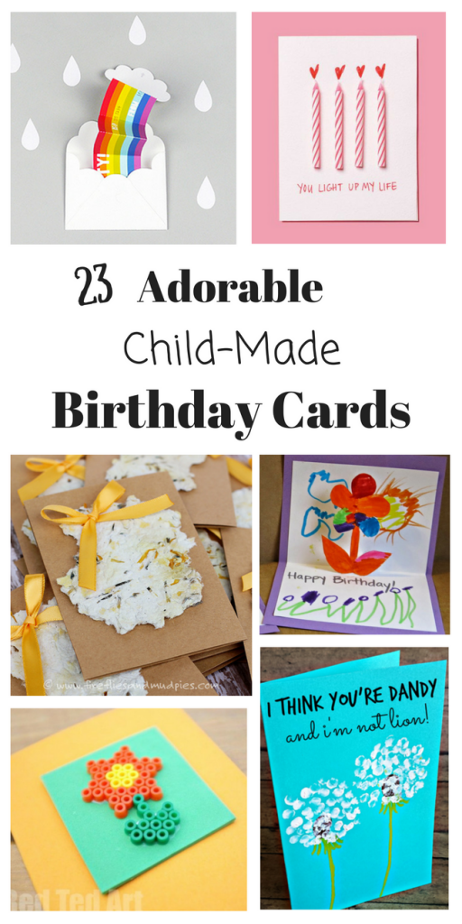 These are the cutest homemade birthday cards, all child-made. We've made so many and everyone loves receiving them!