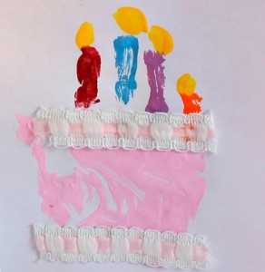 adorable handprint birthday card idea