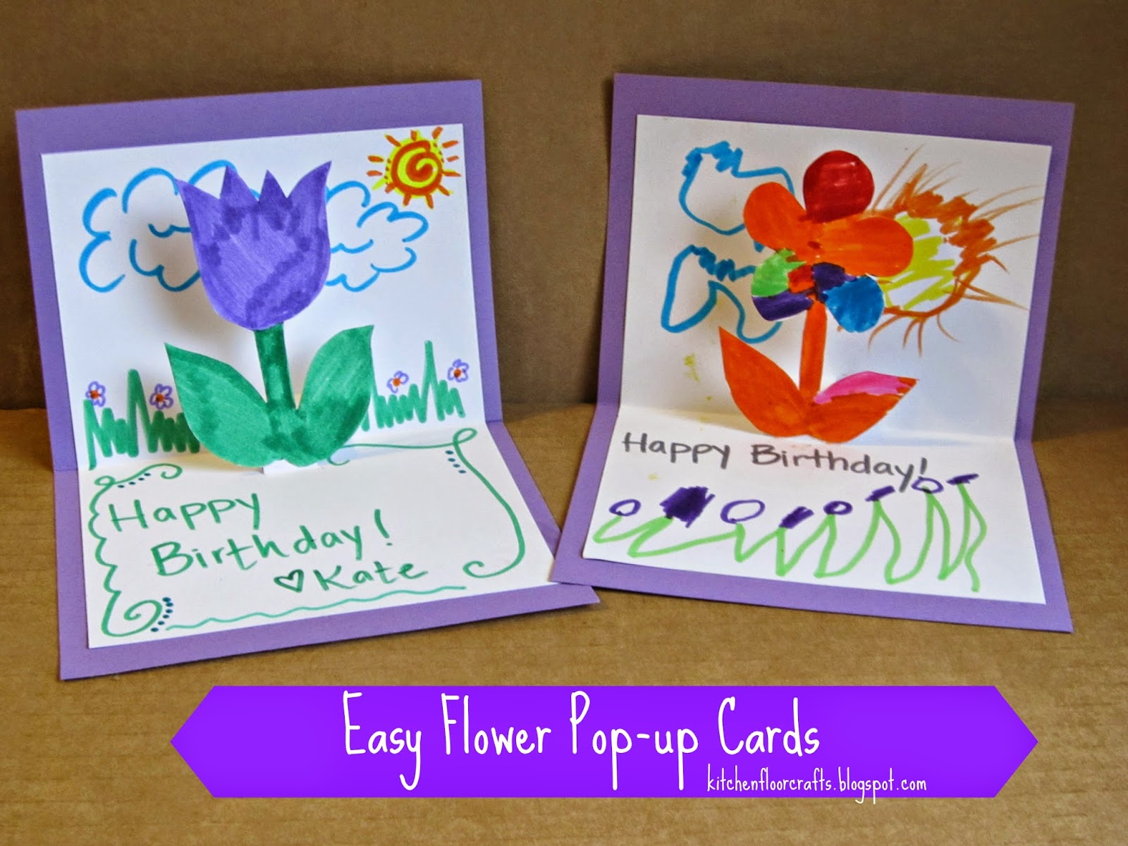 Homemade birthday cards for kids to create how wee learn the cutest kid made homemade birthday cards kristyandbryce Image collections