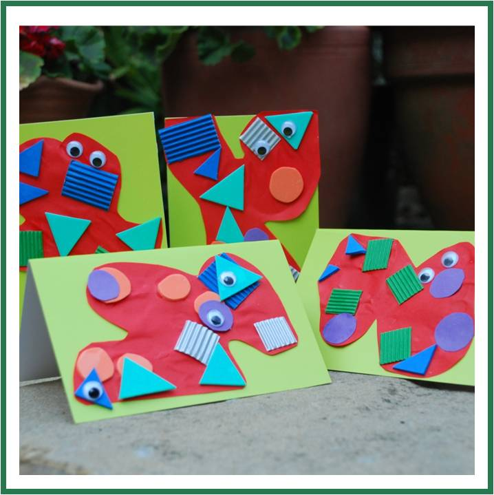 adorable homemade monster cards by Red Ted Art
