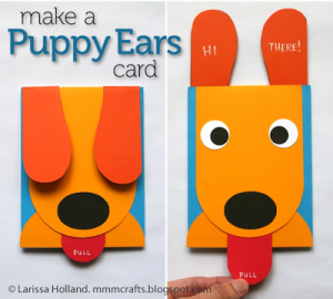 homemade birthday cards puppy ears
