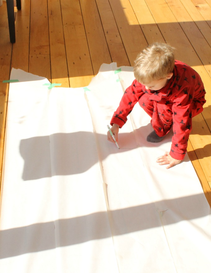 A cool science activity on shadow tracing for groundhog day