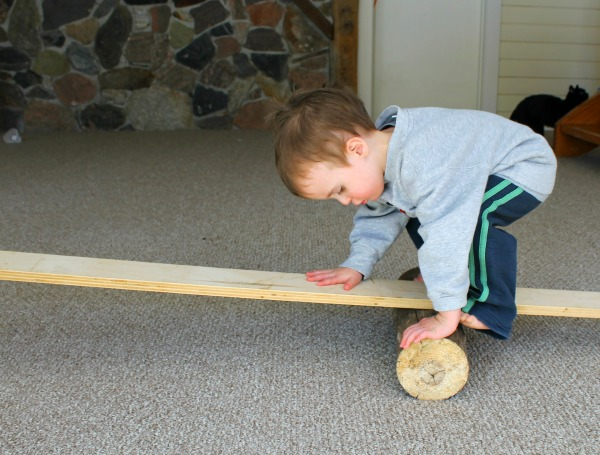 A neat log balancing gross mototor activity for toddlers
