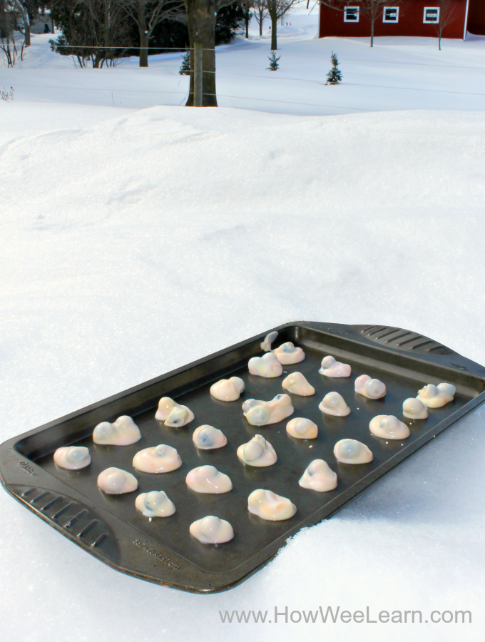A yummy winter snack that is fun to make outside!