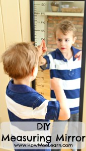 The Incredible Measuring Mirror {DIY}